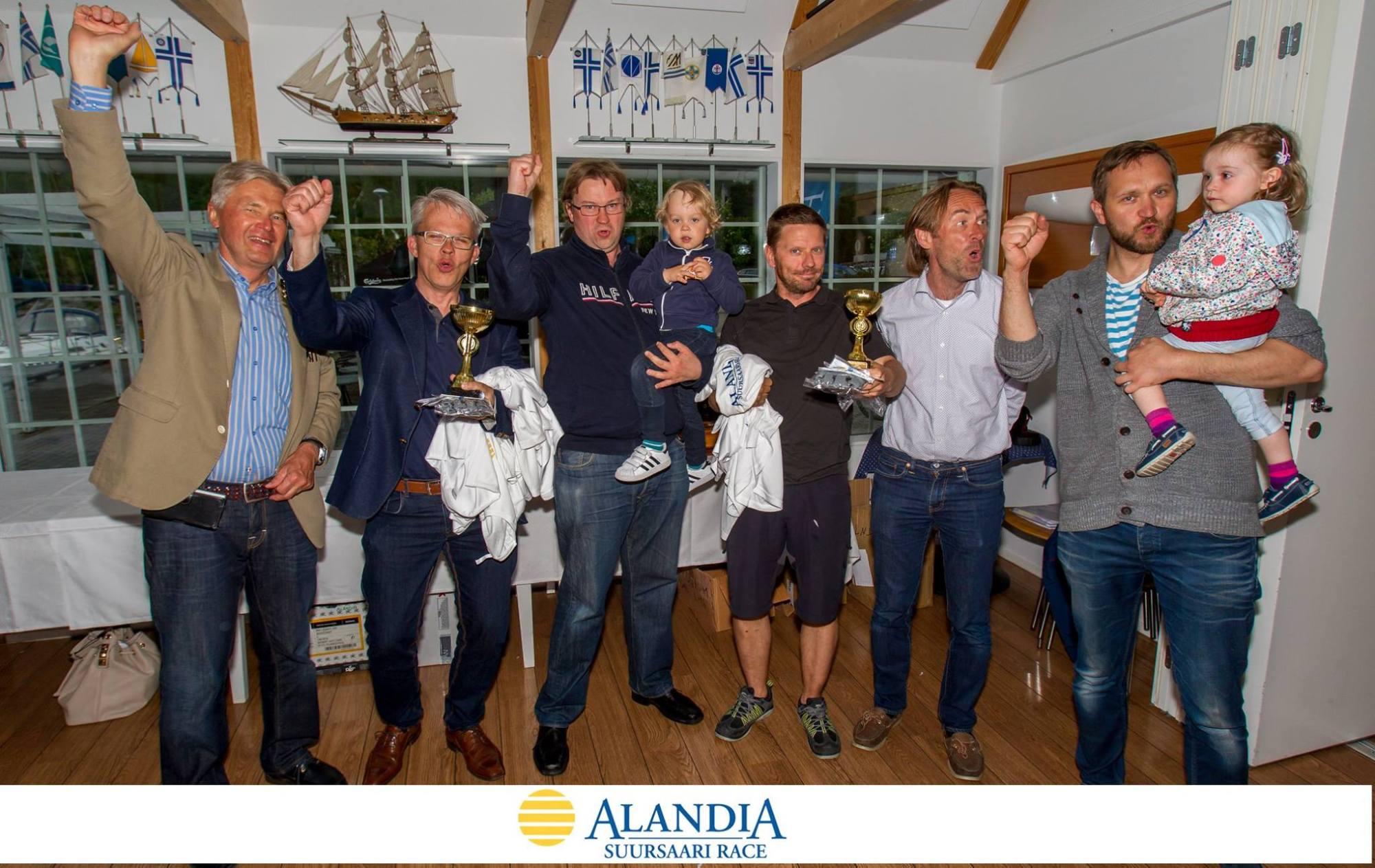 Suursaaren 2017 kärkikolmikko palkintojenjaossa